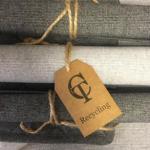 Recycling Tischläufer grau